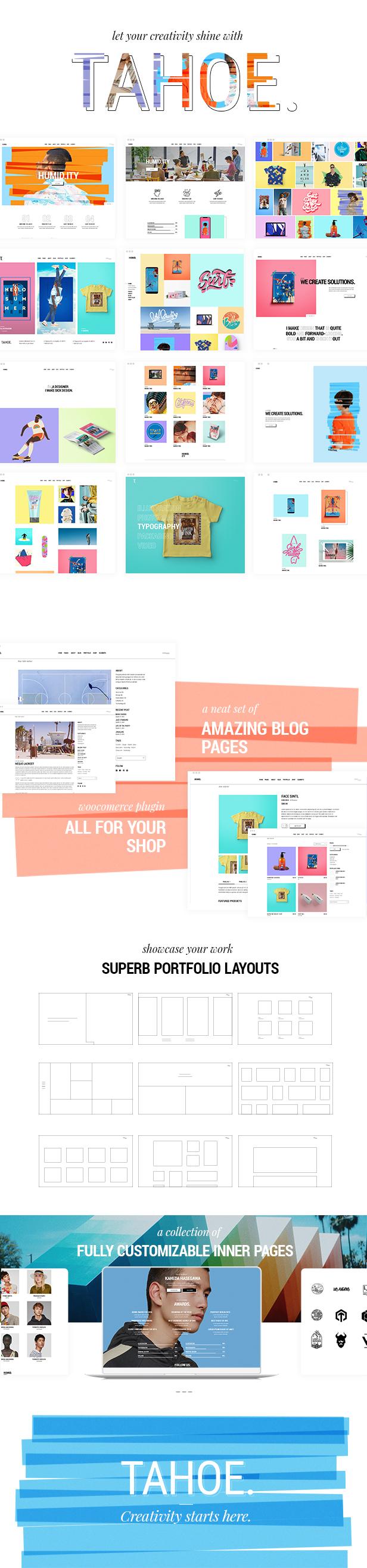 Tahoe - Portfolio Theme for Creatives and Freelancers - 1